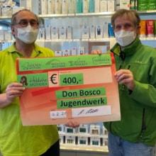 Spende im Wert von 400 Euro an das Don Bosco Jugendwerk